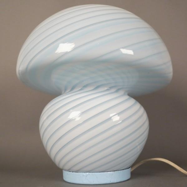 Lámpara de mesa de cristal...