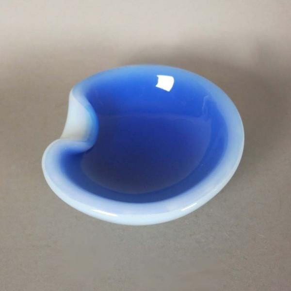 Blue white Seguso Murano...