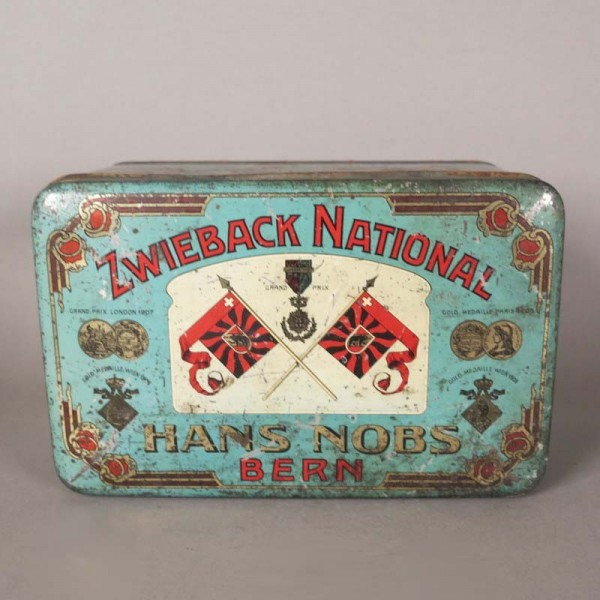 Litographed advertising tin...