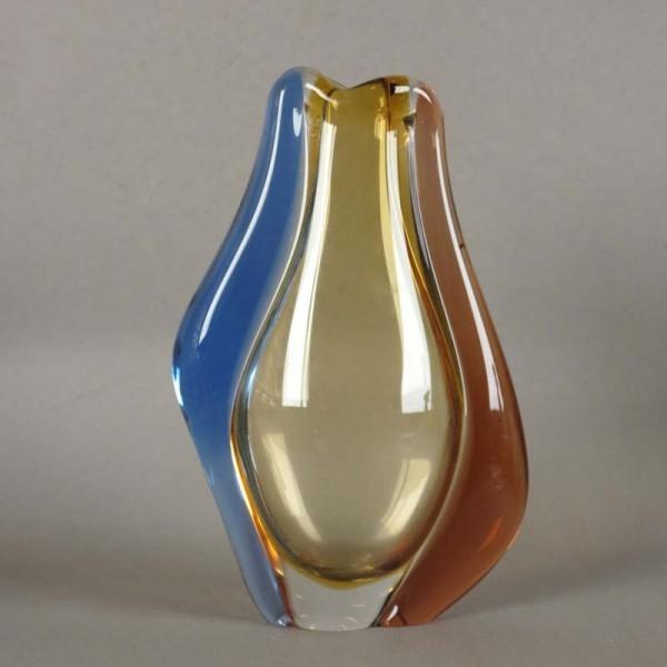 Bohemian glass vase by Hana...