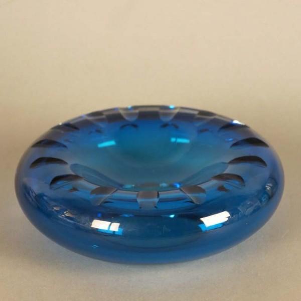 Blue round glass bowl....