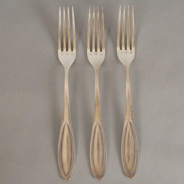 Seis tenedores plateado 90....