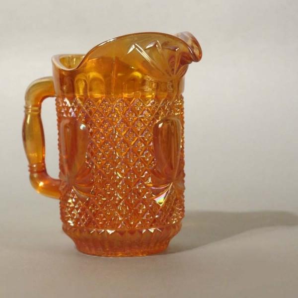 Glass of milk jug orange...