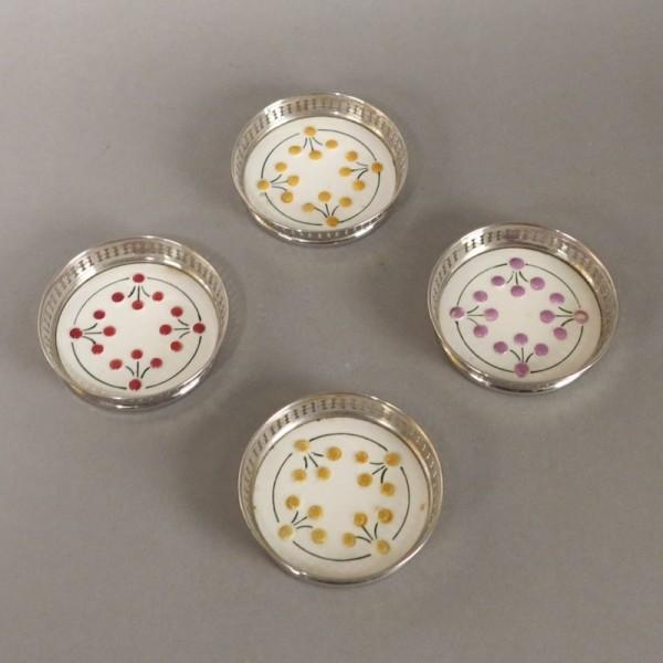 Four Art Nouveau ceramic...