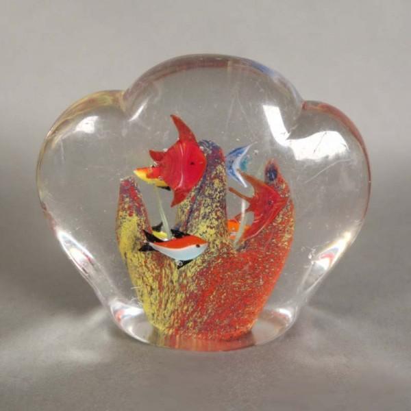 Murano glass paperweight...