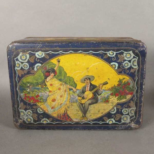 Art Nouveau tin box for...