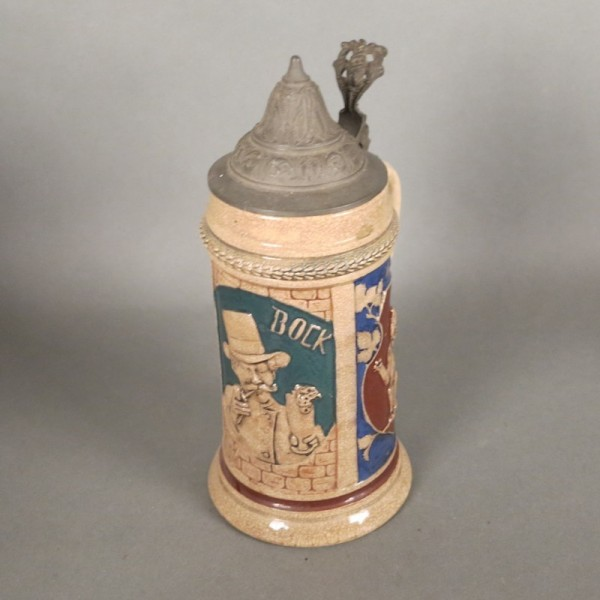 Ceramic beer mug with...