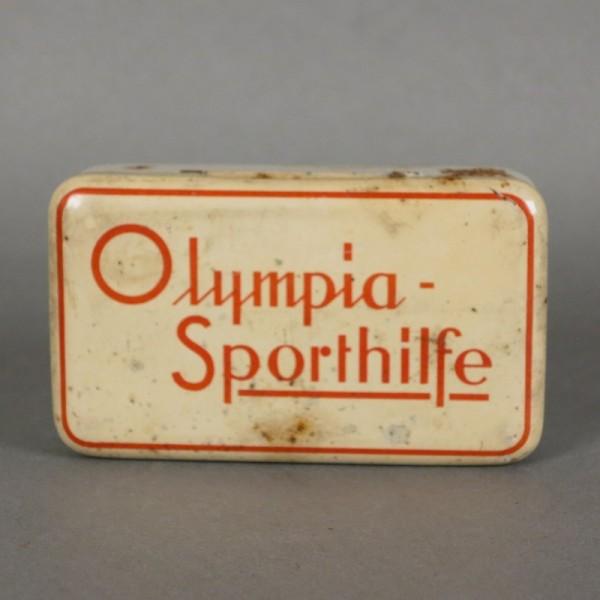 Tin box. Olympic Sports Aid...