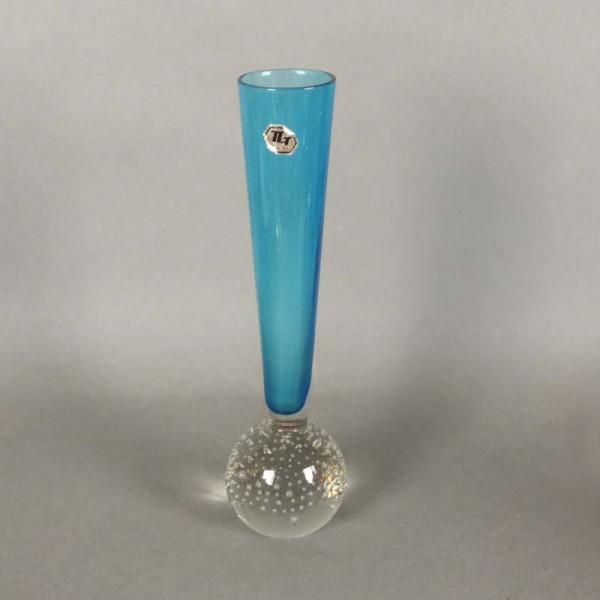 Blaue Vintage Glasvase von...