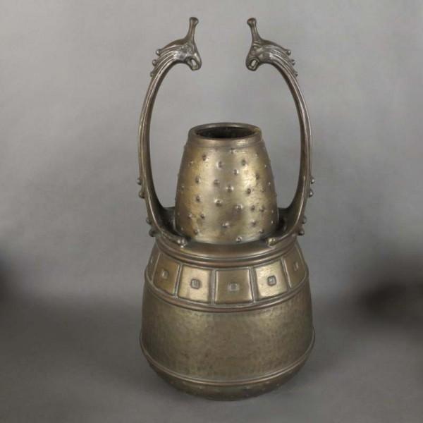 Art Nouveau metal object...